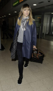 Suki Waterhouse wearing Burberry at LHR, March 14th 2014