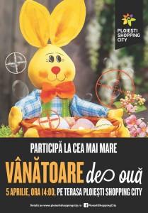 Afis Ploiesti Shopping City Vanatoarea de oua