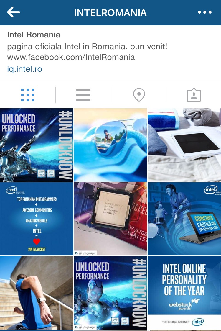 Instagram Intel Romania