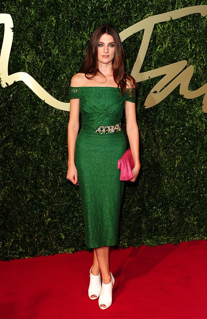 Daisy Bevan arriving for the 2013 British Fashion Awards, at The London Coliseum, St Martin's Lane, London.  PRESS ASSOCIATION Photo. Picture date: Monday December 2, 2013. Photo credit should read: Ian West/PA Wire