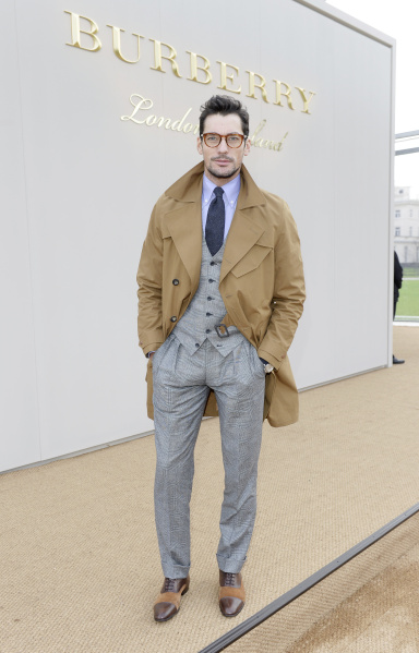 LONDON, ENGLAND - JANUARY 11: David Gandy attends the Burberry Menswear January 2016 Show on January 11, 2016 in London, United Kingdom. Pic Credit: Dave Benett