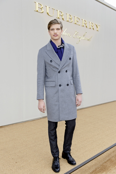 LONDON, ENGLAND - JANUARY 11: Toby Huntington-Whiteley attends the Burberry Menswear January 2016 Show on January 11, 2016 in London, United Kingdom. Pic Credit: Dave Benett