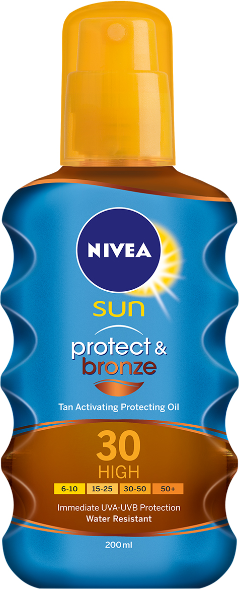 NIVEA SUN INVISIBLE PROTECTION TRANSPARENT SPRAY SPF20 150ml Height: 15,5cm