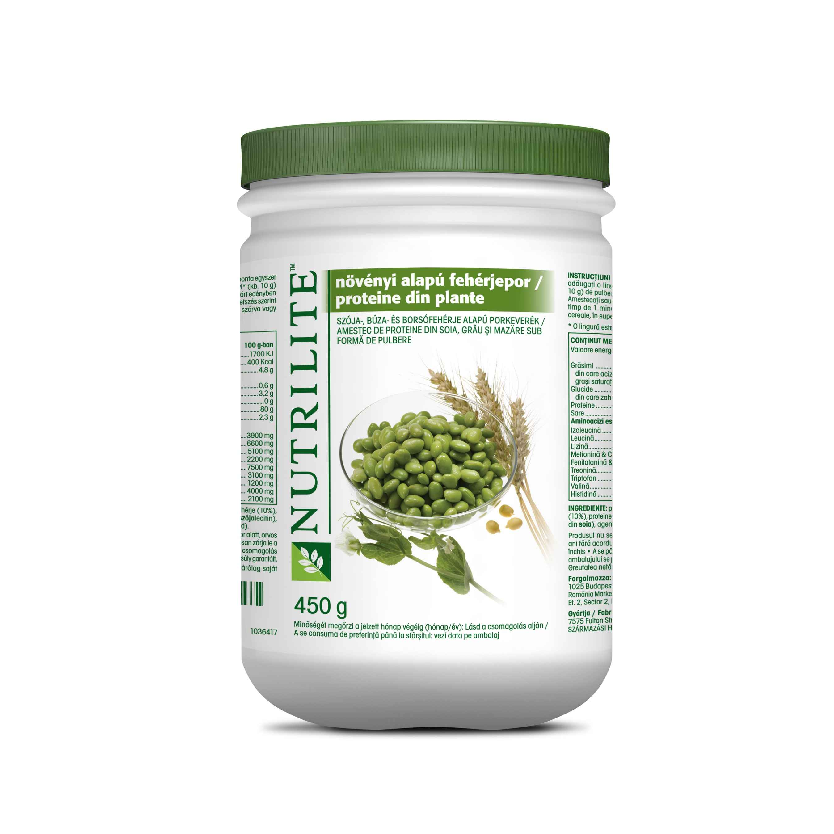 Product mockup/packshot of All Plant Protein Powder 110415