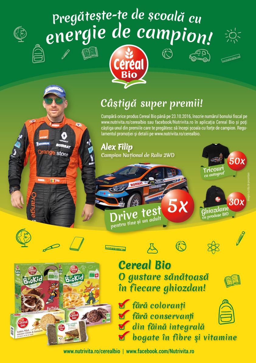 Cereal Bio vizual Fii campion cu Alex Filip
