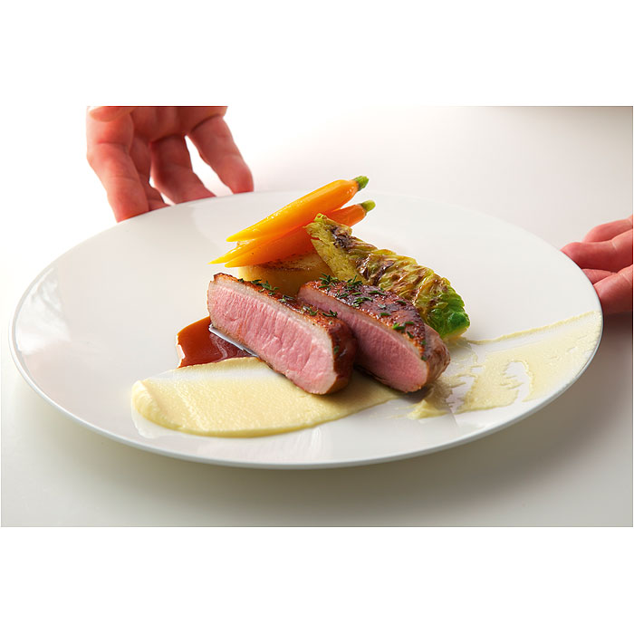 Breast of Duck, Celeriac Puree, Grilled Savoy Cabbage